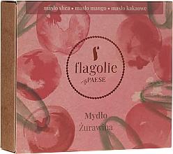 Parfums et Produits cosmétiques Savon végétalien pour mains et corps, Canneberge - Flagolie by Paese Cranberry