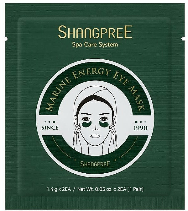 Masque-patchs hydrogel contour des yeux - Shangpree Marine Energy Eye Mask