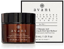 Parfums et Produits cosmétiques Crème éclaircissante anti-décoloration à l'extrait de graines de noni pour visage - Avant 2-1 Glutamic Skin Lightening & Dark Spot Reducer