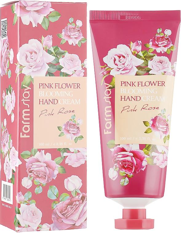 Crème à l'eau de rose pour mains - FarmStay Pink Flower Blooming Hand Cream Pink Rose