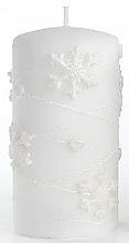 Parfums et Produits cosmétiques Bougie décorative, blanc, 7x10cm - Artman Snowflake Application