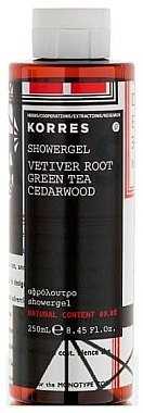 Gel douche à la racine de vétiver, thé vert et cèdre - Korres Vetiner Root Green Tea Cerawood Shower Gel — Photo N1