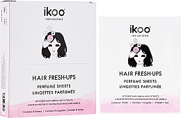 Parfums et Produits cosmétiques Lingettes parfumées à la base de menthe et feuilles de camélia pour cheveux - Ikoo Infusions Hair Fresh-Ups Parfume Sheets