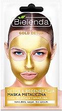 Parfums et Produits cosmétiques Masque au charbon et or pour le visage - Bielenda Gold Detox Metallic Mask