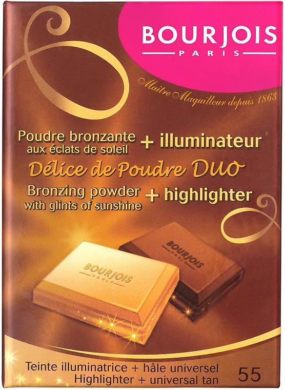 Duo poudre bronzante et illuminateur compact - Bourjois Delice De Poudre Bronzing Duo Powder + Highlighter — Photo N1