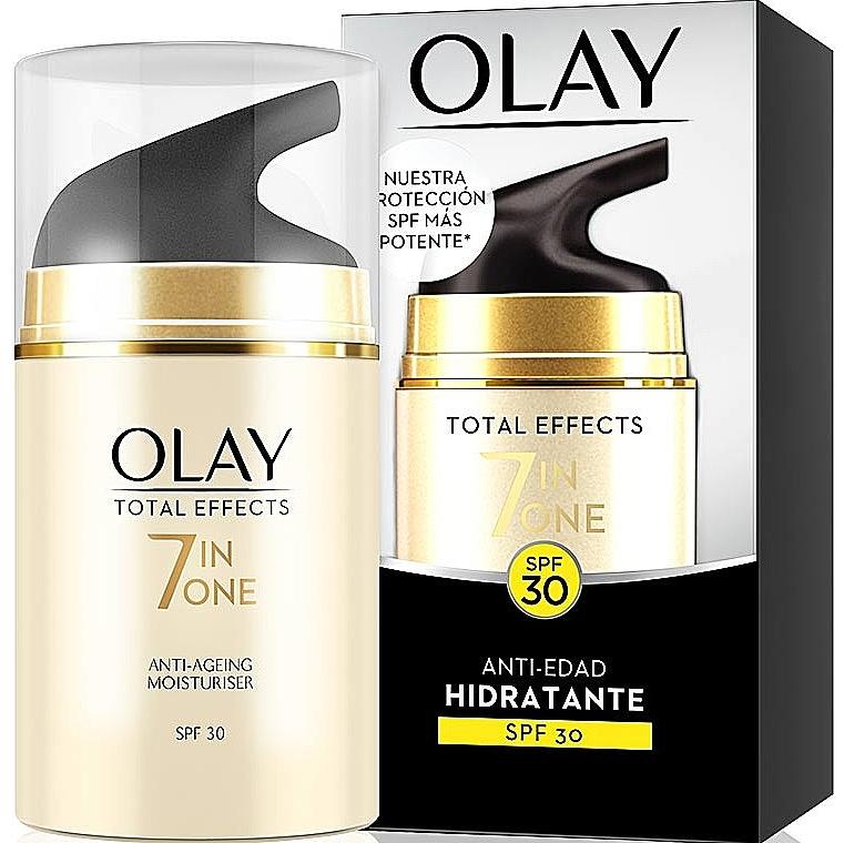 Crème à l'extrait de feuille de thé pour visage - Olay Total Effects Anti-Edad Hidratante SPF30 — Photo N1