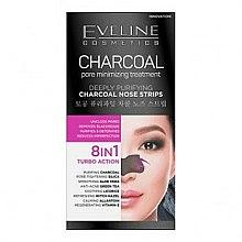 Parfums et Produits cosmétiques Patchs nez 8 en 1 nettoyants en profondeur - Eveline Cosmetics Charcoal Nose Strips