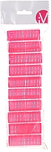 Parfums et Produits cosmétiques Lot de 10 bigoudis velcro, 499600, rose - Inter-Vion