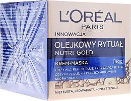 Parfums et Produits cosmétiques Crème-masque de nuit à l'extrait de gelée royale - L'Oreal Paris Nutri Gold Night Cream-Mask