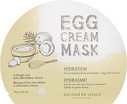 Parfums et Produits cosmétiques Masque tissu à l'extrait de jaune d'oeuf pou visage - Too Cool For School Egg Cream Mask Hydration