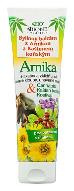 Baume aux herbes avec arnica et châtaigne pour pieds - Bione Cosmetics Cannabis Arnika Herbal Ointment With Horse Chestnut
