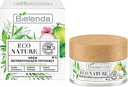 Parfums et Produits cosmétiques Crème au thé vert pour visage - Bielenda Eco Nature Coconut Water Green Tea & Lemongrass Face Cream