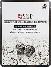 Parfums et Produits cosmétiques Masque tissu au charbon pour visage - SNP Charcoal Mineral Black Ampoule Mask