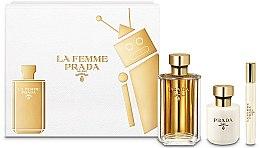 Parfums et Produits cosmétiques Prada La Femme Prada - Coffret (eau de parfum/100ml + lotion corps/100ml + eau de parfum mini/10ml)