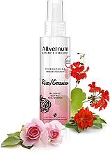 Parfums et Produits cosmétiques Brume corporelle parfumée à la rose et géranium - Allverne Nature's Essences Body Mist