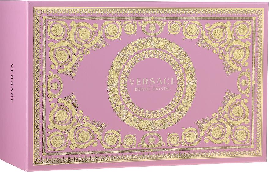 Versace Bright Crystal - Coffret (eau de toilette/90ml + eau de toilette/10ml + trousse de toilette) — Photo N1