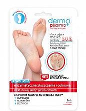 Parfums et Produits cosmétiques Chaussettes exfoliantes à l'extrait d'aloès et acide glycolique - Dermo Pharma Skin Repair Expert S.O.S. Exfoliating & Cell Recovery Foot Mask