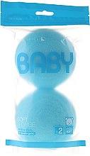 Parfums et Produits cosmétiques Éponges de bain pour enfant, bleues, 2pcs. - Suavipiel Baby Soft Sponge