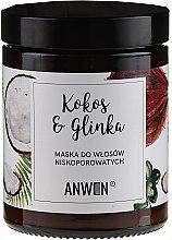 Parfums et Produits cosmétiques Masque au noix de coco et argile pour cheveux à porosité moyenne - Anwen Low-Porous Hair Mask Coconut and Clay