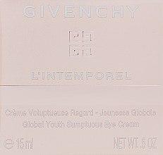 Parfums et Produits cosmétiques Crème à l'acide hyaluronique pour contour des yeux - Givenchy L`Intemporel Global Youth Sumptuous Eye Cream