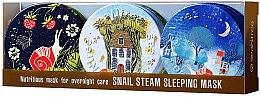 Parfums et Produits cosmétiques Set de 3 masques de nuit à la bave d'escargot pour visage - SeaNtree Snail Steam Sleeping Mask Set 4 (masque/3x35g)
