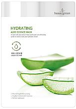 Parfums et Produits cosmétiques Masque tissu à l'extrait d'aloe vera pour visage - BeauuGreen Hydrating Aloe Essence Mask