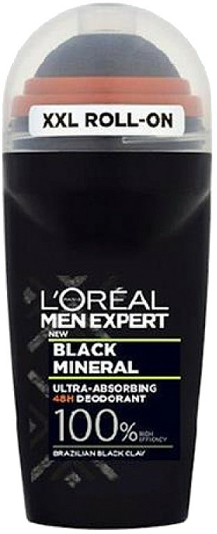 Déodorant roll-on - L'Oreal Paris Men Expert Black Mineral Deo Roll-On