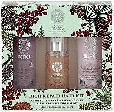 Parfums et Produits cosmétiques Kit soin cheveux réparation absolue - Natura Siberica Natural & Organic Rich Repair Hair Kit (shampooing/250ml + après-shampooing/250ml + spray/125ml)