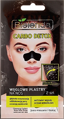 Patch au charbon actif pour le nez - Bielenda Carbo Detox
