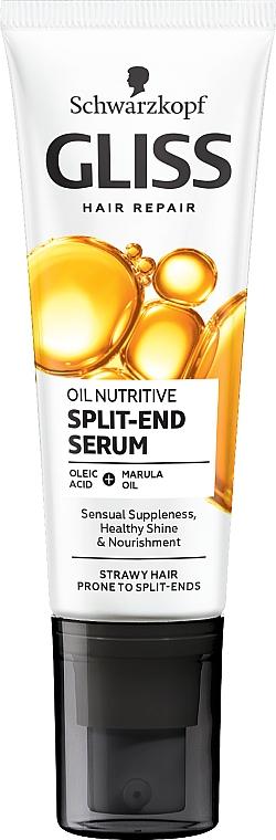 Fluide anti-pointes fourchues aux 8 huiles de beauté - Schwarzkopf Gliss Kur Oil Nutritive 8 Presicious Oils