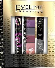 Parfums et Produits cosmétiques Set (mascara/10ml + palette à fard à paupières/9.6g) - Eveline Cosmetics