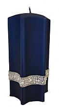 Parfums et Produits cosmétiques Bougie décorative, étoile, bleu, 9x18cm - Artman Crystal Opal Pearl