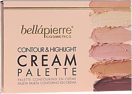 Parfums et Produits cosmétiques Palette contouring en crème - Bellapierre Cosmetics Contour & Highlight Cream Pelette