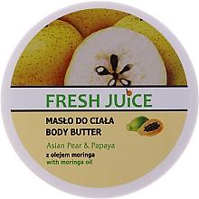 Parfums et Produits cosmétiques Beurre à l'huile de moringa, extrait de papaye et de poire pour corps - Fresh Juice Asian Pear & Papaya
