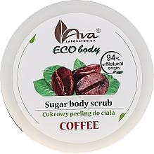 Parfums et Produits cosmétiques Gommage sucré au café pour corps - Ava Laboratorium Eco Body Natural Sugar Scrub Coffee