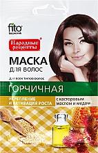 Parfums et Produits cosmétiques Masque régénérant pour cheveux Moutarde à l'huile de ricin et miel - FitoKosmetik
