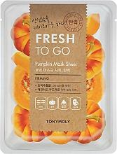 Parfums et Produits cosmétiques Masque tissu à l'extrait de citrouille pour visage - Tony Moly Fresh To Go Mask Sheet Pumpkin