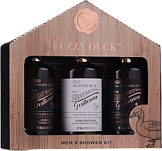 Parfums et Produits cosmétiques Coffret cadeau - Baylis & Harding Men's Fuzzy Duck Ginger & Lime Lixury Grooming Gift Set (ash/balm/300ml+shm/300ml+sh/gel/300ml)