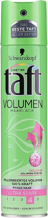Laque cheveux, fixation extra-forte - Schwarzkopf Taft Volume Hairspray