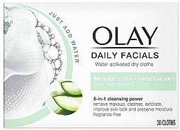 Parfums et Produits cosmétiques Lingettes micellaires démaquillantes pour peaux sensibles - Olay Cleanse Daily Facials Cloths Sensitive