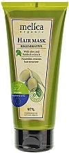 Parfums et Produits cosmétiques Masque aux extraits de bardane et olive pour cheveux - Melica Organic Regenerative Hair Mask