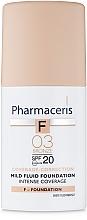 Parfums et Produits cosmétiques Fluide délicat à couvrance intensive SPF 20 - Pharmaceris F Intense Coverage Mild Fluid Foundation SPF20