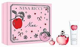 Parfums et Produits cosmétiques Nina Ricci Nina - Coffret cadeau (eau de toilette/50ml + lotion corporelle/75ml + eau de toilette/4ml)