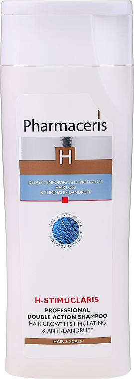 Shampooing à la piroctone olamine et acide citrique - Pharmaceris H-Stimupeel Professional Double Action Shampoo Hair Growth Stimulating & Anti-Dandruff