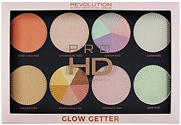 Parfums et Produits cosmétiques Palette d'enlumineurs pour visage - Makeup Revolution Pro HD Palette Glow Getter