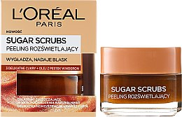 Parfums et Produits cosmétiques Gommage éclat sucres de soin pour visage et lèvres - L'Oreal Paris Sugar Scrubs