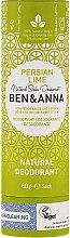 Parfums et Produits cosmétiques Déodorant stick à base de soda au lime (papier carton) - Ben & Anna Natural Soda Deodorant Paper Tube Persian Lime