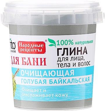Argile bleue du Baïkal pour visage, corps et cheveux - FitoKosmetik Recettes folkloriques