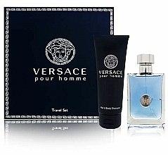Parfums et Produits cosmétiques Versace Versace Pour Homme - Coffret (eau de toilette/100ml + shampooing pour cheveux et corps/150ml)