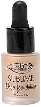 Parfums et Produits cosmétiques Fond de teint liquide - PuroBio Cosmetics Sublime Drop Foundation
